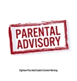 Parental Advisory Red Stop Sign Age Restriction vector image