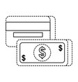 payment mobile banknote and credit card banking vector image