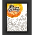 Pizza restaurant sketch menu food cafeteria vector image vector image