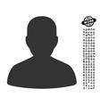 portrait icon with work bonus vector image vector image