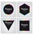 Premium logo label set vector image