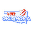 presidential vote in oklahoma 2020 state map vector image vector image