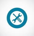 repair icon bold blue circle border vector image vector image