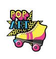 roller skates pop art icon vector image