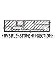 rubble stone in section material symbol vector image vector image