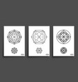 set minimal geometric shapes vector image vector image