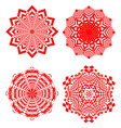 set of simple geometric design elements red vector image vector image