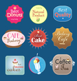set of vintage label design bakery vector image vector image