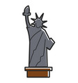 simple statue liberty vector image vector image