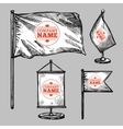 Sketch Logo Flags Set vector image vector image