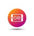 smartphone device icon go symbol vector image vector image