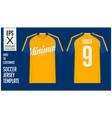 soccer jersey football kit mockup template vector image vector image