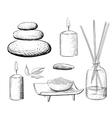 Spa set Rock Salt Essential Oil Jacuzzi vector image vector image