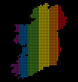 spectrum dotted lgbt ireland island map vector image vector image