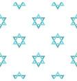 star of david pattern flat vector image