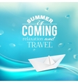Summer coming phrase over wave backgroud vector image vector image