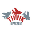 Think different design vector image