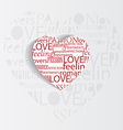 valentines heart background vector image vector image