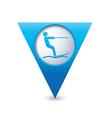 waterskiing symbol pointer blue vector image vector image