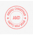xmas stamp isolated on light background vector image vector image