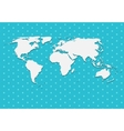 Paper World Map on Blue Background vector image