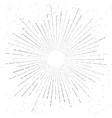 retro vintage hand drawn sunburst star flare vector image