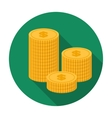 Money donation icon in flat style isolated on vector image