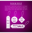 Black Friday sales tag flat icon on purple vector image