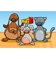 cute pets characters cartoon vector image