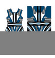 abstract print for dress with realistic lacing vector image