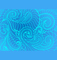abstract wave background of doodle hand vector image vector image