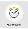 Alarm clock flat icon vector image vector image