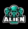 alien mascot logo vector image vector image