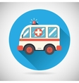 Ambulance car Icon Health Treatment Symbol on vector image