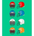 American Football Helmet Set Protective Equipment vector image vector image