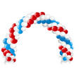 arc made of white red blue balloons isolated on vector image vector image