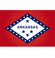 arkansas flag vector image vector image