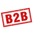 b2b square stamp vector image