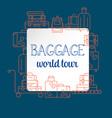 baggage luggage line icon vector image vector image