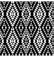 Black and white aztec striped ornaments geometric vector image vector image