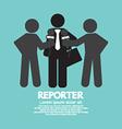 Black Symbol Reporter vector image vector image
