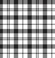 Black Watch milytary tartan seamless pattern black vector image vector image