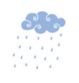 blue rain cloud vector image vector image