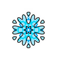 blue snowflake icon isolated vector image vector image