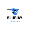 bluejay flat logo icon vector image vector image