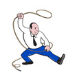 Businessman Holding Lasso Rope vector image vector image
