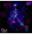 cancer constellation with triangular background vector image vector image