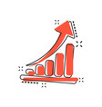 cartoon growth chart icon in comic style grow vector image vector image