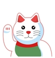 cat luck japanese culture vector image vector image
