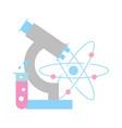 chemistry laboratory microscope molecule atom test vector image